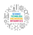 science technology engineering and math round vector image vector image