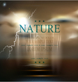 seascape with storm bad weatherthunderstorm vector image vector image