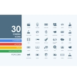 set cinema icons vector image vector image