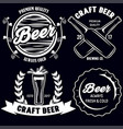 set of craft beer badges with with design elements vector image