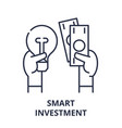 smart investment line icon concept smart vector image vector image