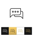 Speak conversation comment or thinking bubbles vector image vector image