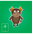 Stock icons with ox and chinese zodiac sign vector image vector image