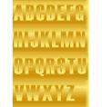 Striped Yellow Alphabet vector image
