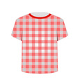 T Shirt Template- Gingham pattern vector image vector image