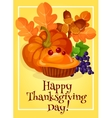 Thanksgiving Day traditional greeting card design vector image vector image