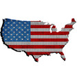 usa grunge map with flag inside vector image