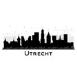 utrecht netherlands city skyline silhouette with vector image vector image