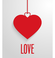 Valentines day card with hanging hearts vector image vector image