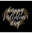 valentines day gold vector image