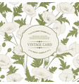vintage card with blooming flowers vector image