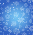 Winter seamless texture with snowflakes vector image vector image