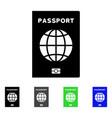 world passport flat icon vector image vector image