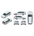 hatchback car compact hybrid vehicle eco vector image