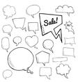 set of speech bubbles group of doodle vector image