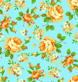 Seamless floral pattern with yellow roses vector image