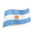 national flag of argentina central white stripe