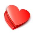 Opened Heart Gift Box vector image