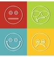 Emoji emoticons icons vector image