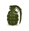 green grenade icon vector image