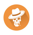 Skull with hat vector image