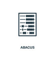 abacus icon line style icon design from personal vector image