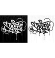 abstract hip hop hand written graffiti style word vector image vector image