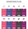 advertising plan infographic 10 option ui design