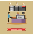 airport baggage check concept vector image