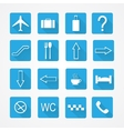 airport icons - pictograph set