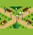 an urban park vector image