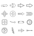 Arrow icons set outline style vector image vector image