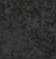 background grey dust digital hex vector image vector image