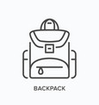 backpack line icon outline vector image
