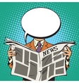 Bubble head reader of the newspaper vector image