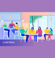cafe flat vector image vector image