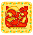 chinese horoscope year rooster vector image vector image
