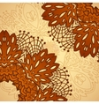 chocolate flower lace pattern vector image vector image