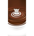chocolate swirl milk splash package vector image vector image