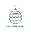 christmas ball with ornament line icon vector image vector image