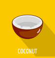 coconut icon flat style vector image