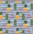 colorful pineapple seamless pattern on pastel wave vector image