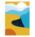 colorful poster with cliff vector image vector image