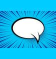 comic book radial pop art speech bubble vector image vector image