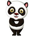 cute panda cartoon posing vector image vector image
