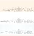 detroit hand drawn skyline vector image vector image