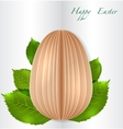 Easter Egg on spring leaves vector image vector image