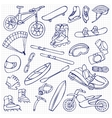 Extreme doodle set vector image vector image