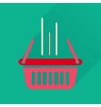 Flat icon with long shadow shopping basket