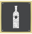 flat vine bottle vector image vector image